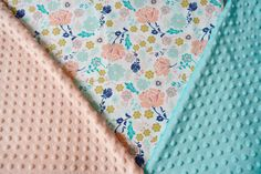 Pink Floral Baby Blanket, Coral Mint Baby Blanket, Floral Baby Bedding, Minky Girl Blanket, Personalized Baby Girl Blanket, Toddler Blanket by KenziesQuiltShop on Etsy https://www.etsy.com/listing/494913796/pink-floral-baby-blanket-coral-mint-baby