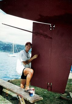 Painting the underwatership of the Jump Up in Tahiti