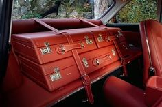 custom luggage for 1964 Ferrari Superfast Series I. This made it onto a lot of blogs this AM...for good reason.