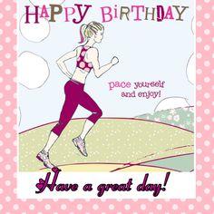 Happy birthday lady runner