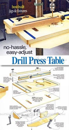 #Drill #Press Table and Fence #Plans - Drill Press Tips, Jigs and Fixtures