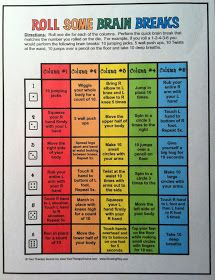 Your Therapy Source - www.YourTherapySource.com: New Freebie - Brain Breaks Game