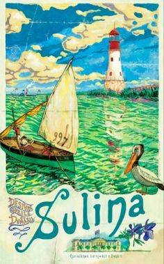 Danube Delta recent vintage poster by Atelier Trebo Vintage Travel Posters, Vintage Postcards, Vintage Ads, Poster Vintage, Danube Delta, Illustrations Posters, Cool Pictures, Instagram, Drawings
