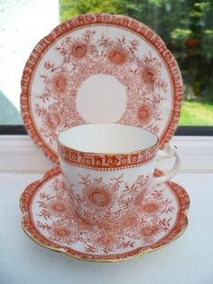 Antique Foley Wileman China Trio Tea Cup Saucer Plate