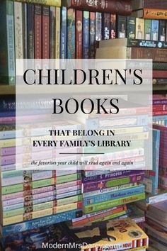 """8 Children's Books That Belong In Every Family's Library: """"Classics"""" doesn't quite cover it. These are the books your kids will wear out from reading over and over and over again. I Love Books, Great Books, Books To Read, My Books, Kids Reading, Reading Lists, Book Lists, Children's Literature, The Villain"""