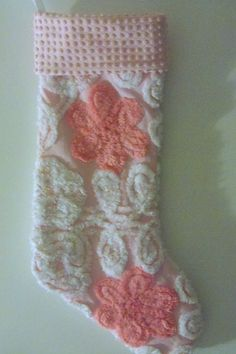 Vintage Chenille Christmas Stocking - and this is why I need a little girl