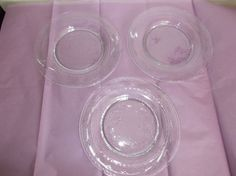 3 Hawkes Cut Crystal 6000-3 Luncheon Plates, Marked, 8.5 in, clear  #Hawkes