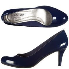 Cute and functional blue patent leather heels Worn once! Super comfortable, as this Payless brand always is. Heel is fairly low. Great color. No scuffs. No box. Comfort Plus by Predictions  Shoes Heels