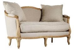 "Maison Settee -   61""W x 28""D x 35.5""H; seat height, 20""  fifteen hundred USD"