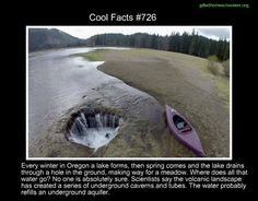 Cool facts #726 http://www.treehugger.com/natural-sciences/oregons-lost-lake-disappearing-through-mysterious-hole.html