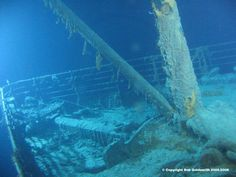 This picture, to me, gives more of a sense of the destruction that must have taken place as Titanic broke apart, and sank.  Heart-breaking.