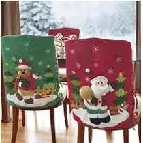 Cubresillas Christmas Chair, Christmas Art, Xmas, Chair Covers, Little Christmas, Holidays And Events, Table Runners, Centerpieces, Holiday Decor
