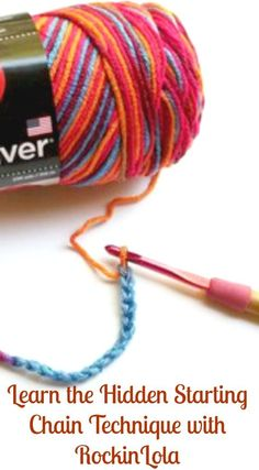 Learn how to hide the starting chain in your planned pooling crochet projects with guest blogger RockinLola Pooling Crochet, Knit Or Crochet, Crochet Chain, Easy Crochet, Crochet Crafts, Crochet Projects, Crochet Instructions, Crochet Tutorials, Crochet Videos