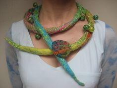 Felted necklace string cord belt glass marbles pin by feltinga, $29.90