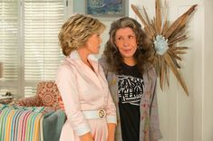 Jane Fonda and Lily Tomlin are Grace and Frankie.