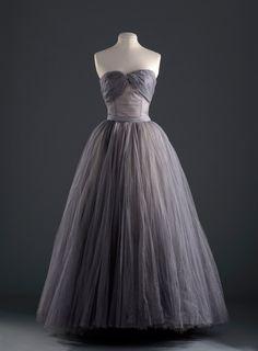Dior evening dress, 1953-54 From the Musée Galliera via Vogue Paris