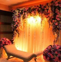 Small cosy engagement in a house sofra aghd backdrop the light indian wedding decorationsreception decorationsindian weddingswedding stagewedding junglespirit Choice Image