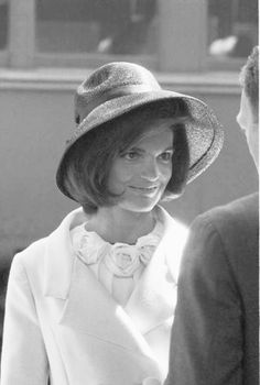 """First Lady Mrs ~~Jacqueline Lee (Bouvier) Kennedy Onassis """"Jackie"""" (July 28, 1929 – May 19, 1994). She is remembered for her contributions to the arts and preservation of historic architecture, her style, elegance, and grace. She was a fashion icon; her famous ensemble of pink Chanel suit and matching pillbox hat has become symbolic of her husband's assassination and one of the lasting images of the 1960s  ♥❃❋✽✾❀❃ ♥ http://en.wikipedia.org/wiki/Jacqueline_Kennedy_Onassis"""