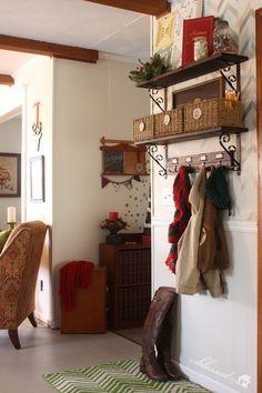 An organized Christmas Drop Space!