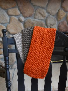 Scarf beige brown rust chunky yarn by CrisCreationStation on Etsy, $22.50