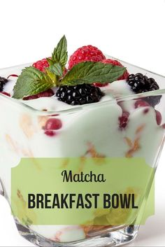 Don't forget breakfast!  This quick and easy matcha breakfast bowl will supply the energy you need to tackle your day head-on.   epicmatcha.com/... #matcha #breakfast #bowl