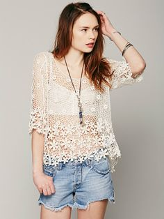 a8d682f7d3cca5 Free People LA Livin Flower Shop Top at Free People Clothing Boutique Irish  Crochet