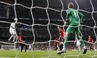 Manchester United manager Sir Alex Ferguson struggles to describe Cristiano Ronaldo's equaliser in the Champions League match against Real Madrid on Wednesday. Ronaldo's towering header on 29 minutes brought the scores level after an unmarked Danny Welbeck scored from a Wayne Rooney corner