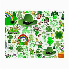 St Patrick's Day Collage Glasses Cloth