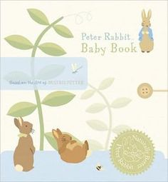 Peter Rabbit Baby Book - simple, modern illustrations and made from recycled paper