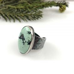New Landers Variscite Ring with Adjustable Band by Janice Abarbanel