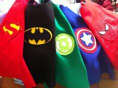 SUPER HERO CAPES. $5.00, via Etsy.