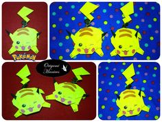 Origami Maniacs: Origami Pikachu