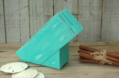Knife Block Upcycled Shabby Chic Hand by TheVintageArtistry, $25.00