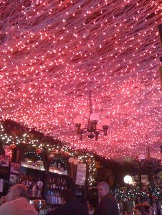 Ceiling of Pete's Tavern in NYC