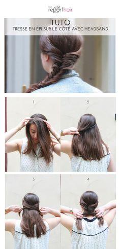 Tutoriel photo The reporthair - Tresse en épi sur le côté - Idée coiffure simple pour des cheveux longs