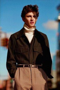 Fashion Timothee chalamet Fashion inspo Beautiful boys Mens fashion How to wear - Plz Help Plaited Trousers Sleeve Outer Fashion - Looks Street Style, Looks Style, Guy Style, Style Star, Mode Outfits, Fashion Outfits, Fall Outfits, Guy Outfits, Fashion Shoes