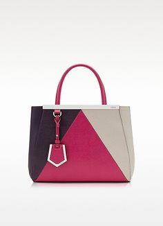 Petite 2Jours 3 Color Leather Shopping Bag - Fendi