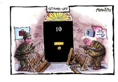 5 March 2014 - referencing the Ukraine and the potential conflict between Cameron and Boris Johnson International Relations, Boris Johnson, March 2014, Ukraine, Affair, Law, Cartoons, Politics, Cartoon