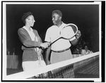 Althea Gibson with Jackie Robinson, 1951 Althea Gibson, Who Is The First, Jackie Robinson, Wimbledon, Athletic Women, Black History, Biography, Cool Pictures, Athlete