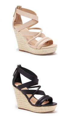 Strappy leather platform espadrilles by Joe's Jeans