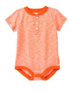 Space Dyed Henley Bodysuit: $4.99, available in sizes 0 to 18 months. Gymboree: $, local Cville franchise