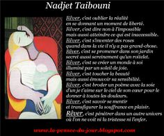 La Pensée Du Jour: LE RÊVE (Nadjet Taibouni)