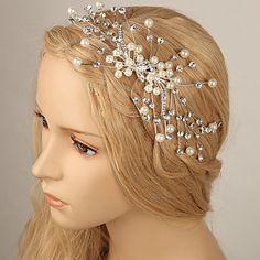 Women Rhinestone/Imitation Pearl Hair Combs With Multi-stone/Imitation Pearl Wedding/Party Headpiece – USD $ 17.99