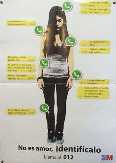 #Campaña sobre el #acoso por medio de #whatsapp.