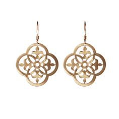 Gold ornamental aluminum earrings ($40) ❤ liked on Polyvore featuring jewelry, earrings, yellow gold earrings, long earrings, gold tone earrings, gold jewelry and nickel free gold earrings
