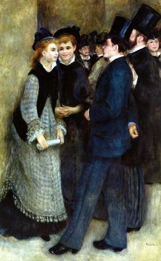Pierre Auguste Renoir - Leaving the Conservatory, 1877 at the Barnes Foundation Philadelphia PA