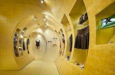 Boutique interior design idea from wood