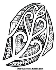Nice Maori Moon Tattoo Photo - 4