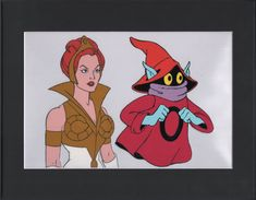 He-Man Masters of the universe Orko and Teela Production Animation Cell Setup by CharlesScottGallery on Etsy