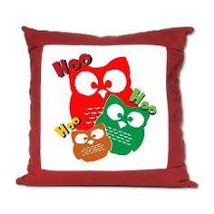 HooHooHoo Owls Suede Pillow
